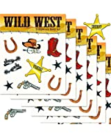 Western Cowboy Temporary Tattoos Party Favor and Costume Set (Over 50 Western Tattoos, Party Supplies)