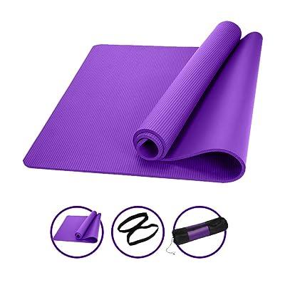 Chang Xiang Ya Shop tapis de danse de yoga anti-dérapant pour les hommes et les femmes Thicken 15mm tapis de yoga en trois parties tapis de fitness débutant de yoga 185 * 90cm (72,8 * 35,4 pouces)