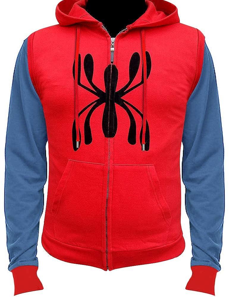 Amazon.com: Chaqueta con capucha de Spiderman rojo con ...