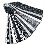 Jelly Roll 20 Cotton Quilting Fabric Strips 2.5 X 43-inch Classic Black and White No Duplicates