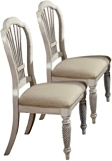 Wilshire Antique White Dining Chairs   Set Of 2