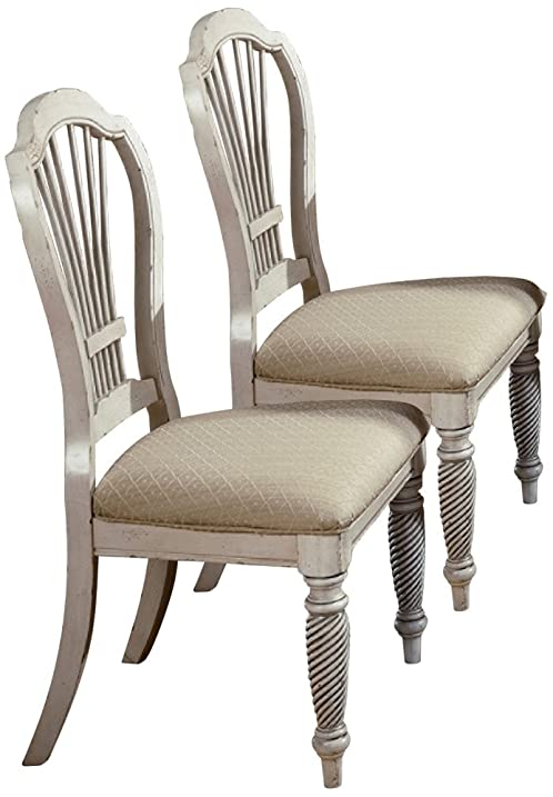 Wilshire Antique White Dining Chairs - Set of 2 - Amazon.com - Wilshire Antique White Dining Chairs - Set Of 2 - Chairs