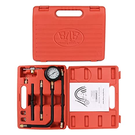 B4B BANG 4 BUCK Y113 10 Pieces 0-100 Psi Fuel Pressure Tester Kit,0-7 Bar  Diagnostic Oil Gauge Set with Carry Case for Car, Motorcycle, Truck, RV,  SUV