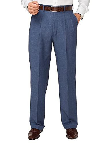 Men's Vintage Pants, Trousers, Jeans, Overalls Paul Fredrick Mens Wool Patterned Pleated Pants $79.98 AT vintagedancer.com