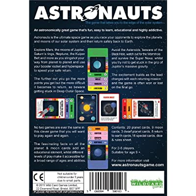 Wild Card Games Astronauts – The Ultimate Space Game for Kids Teenagers and Adults as You Travel The Solar System Exploring Planets and Moons - Fun and Educational Astronomy Gift: Toys & Games