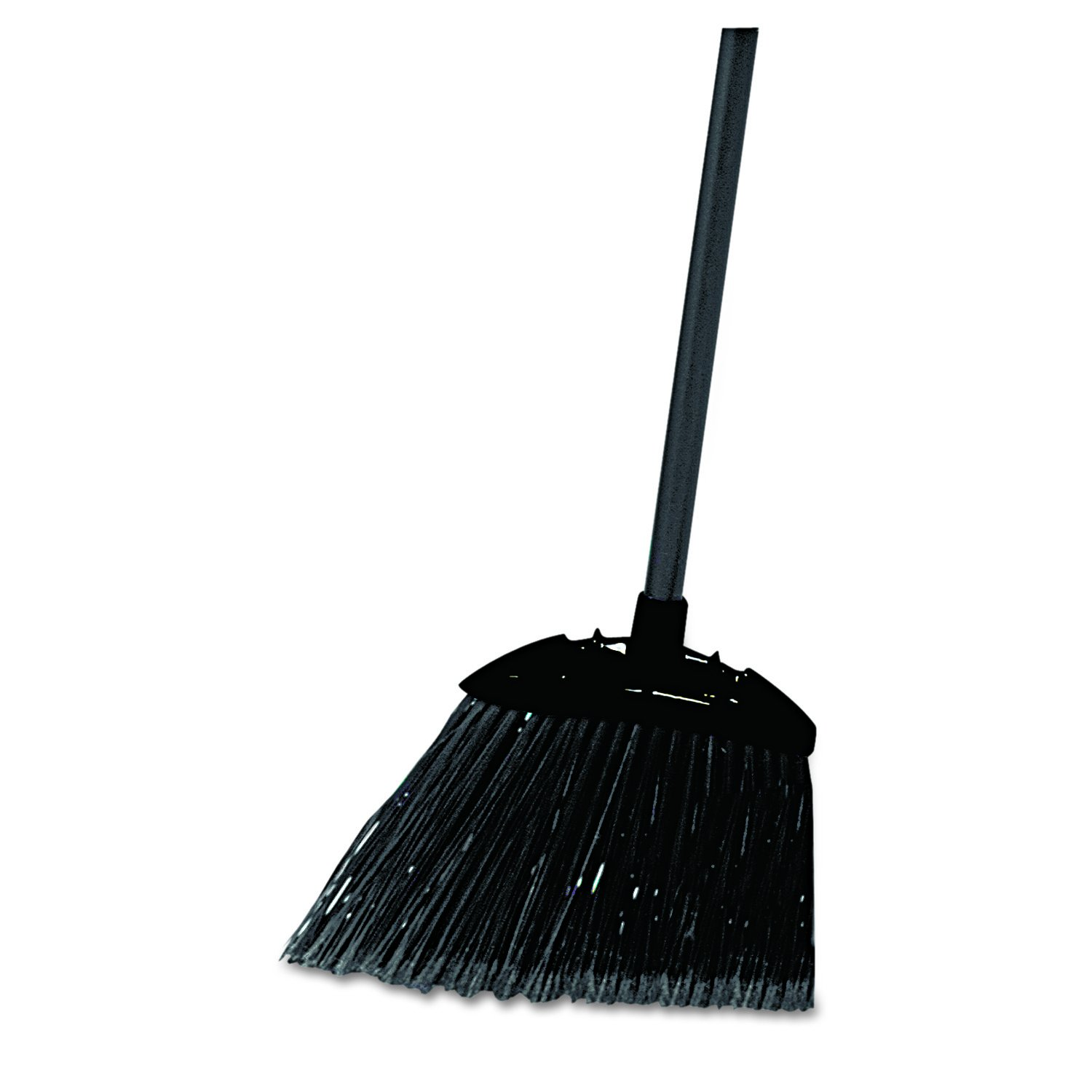 Rubbermaid Commercial Lobby Pro Broom, Polyethylene Bristles, 28-Inch Metal Handle, Black/Yellow (FG637400BLA) Rubbermaid Commercial Products