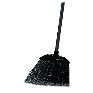 Rubbermaid Commercial Lobby Pro Broom, Polyethylene Bristles, 28-Inch Metal Handle, Black/Yellow (FG637400BLA)