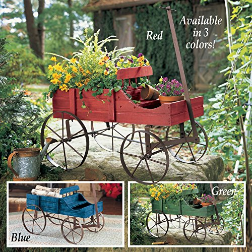Collections Etc Amish Wagon Decorative Indoor/Outdoor Garden Backyard Planter, Green by Collections Etc (Image #6)