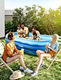 Sable Inflatable Pool, 95 x 56 x 22in Rectangular