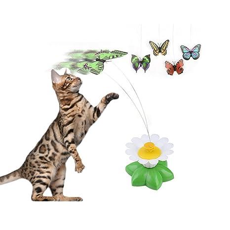 Divertido tentetieso, juguetes interactivos para gatos, perseguidor, diseño de palo con pluma.