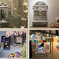 Bloomy home Vintage Cafe Bar Jardín Espejo Restaurante Decoración Ventana Pared Espejo Pared Creativa Adornos de Madera 0708: Amazon.es: Hogar