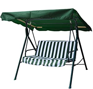 """Yescom 64 15/16"""" x 47 1/4"""" Deluxe Outdoor Swing Canopy Replacement UV30+ 180gsm Porch Top Cover for Patio Yard Seat"""