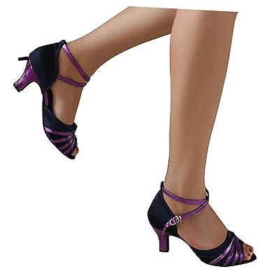 misu - Zapatillas de danza para mujer Blanco blanco, color Blanco, talla 36.5