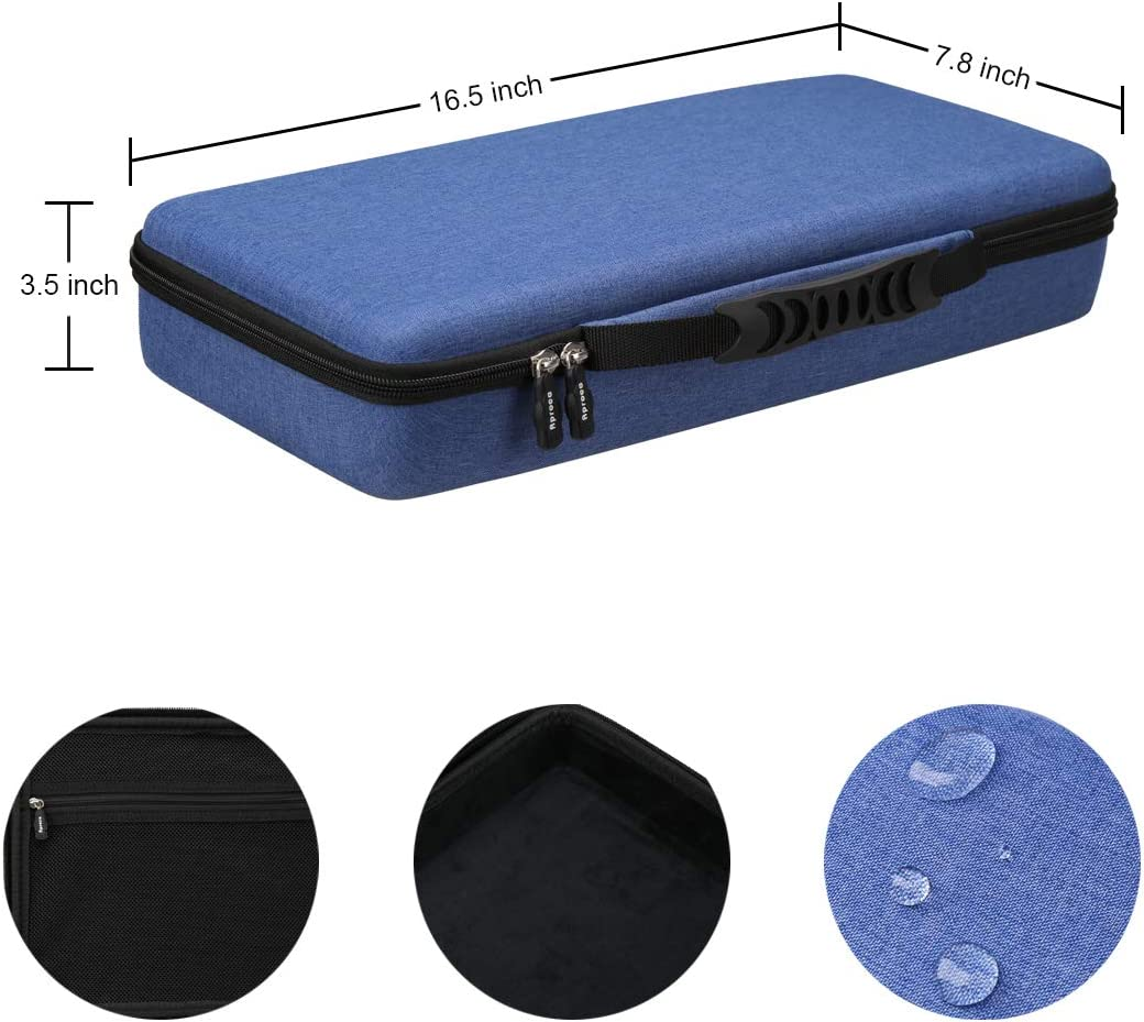 Aproca Hard Storage Travel Case for PicassoTiles 100 Blue 60 //42 Piece Set Magnet Building Tiles