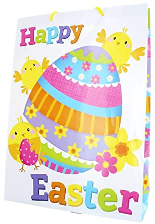 Extra large easter gift bag white chicks daffodils easter extra large easter gift bag white chicks daffodils easter eggs 18quot negle Images