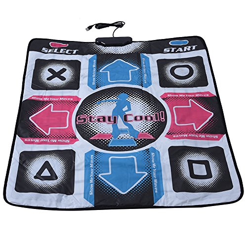 Zerone Dance Pad, Non-Slip Wear-Resistant Dancing Step Dance Mat Pad Dancer Blanket t with USB for PC Support Windows 98/2000/ XP/ 7 OS ()