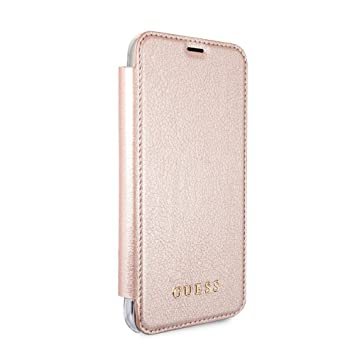 Guess iPhone X Case by CG Mobile PU Leather Rose Gold