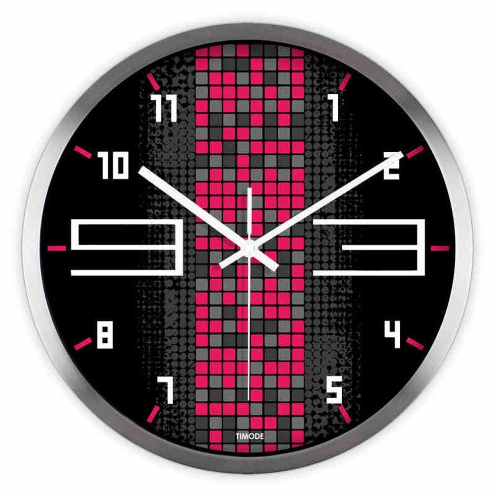 Unbekannt LXF Wanduhr Wanduhr Stumm Kunst Uhren Schwarz Wohnzimmer Kreative Wanduhr Wanduhren (Farbe : Silber, größe : 12inch)
