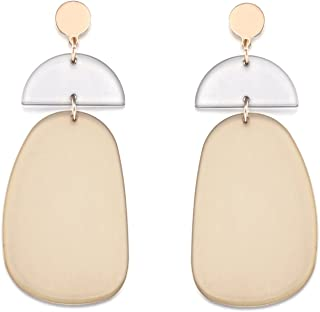 LILIE&WHITE Fashion Transparent Geometric Acrylic Dangle Drop Earrings For Women Jewelry Gift KEH00486A