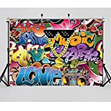 WOLADA 7x5ft Graphiti Photography Backdrops Vinyl Retro Style 90's Party Decoration Photo Booth Studio Props 10991