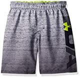 Under Armour Big Boys' Swim Shorts, grey/green, X-Large