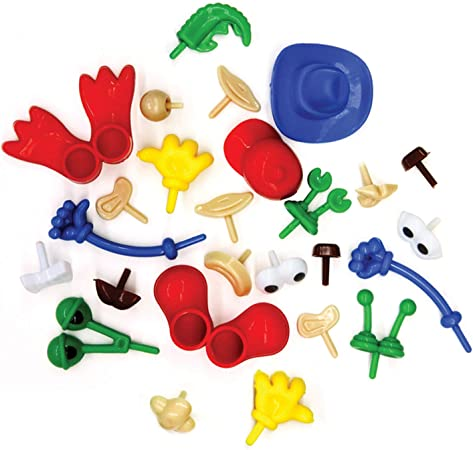 19 Assorted Robot Body Parts for Soft /& Self Hardening Clay for Kids Modelling Crafts