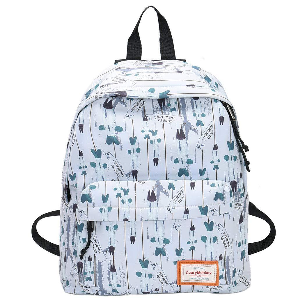 Travel Backpacks Graffiti Shoulder Bag Leisure Daypack Large Capacity School Book Bag Lightweight Backpack By Lmtime(C)
