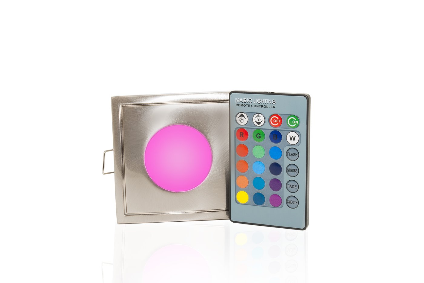 Faretto LED 12v RGB 3W tenuta stagna IP65 cromoterapia doccia bagno turco sauna Planetitaly