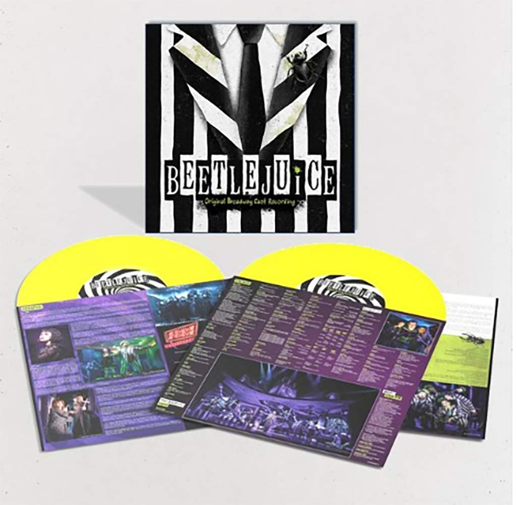 Eddie Perfect Various Artists Beetlejuice Original Broadway Cast Recording Exclusive Limited Edition Yellow Colored 2x Vinyl Lp Amazon Com Music