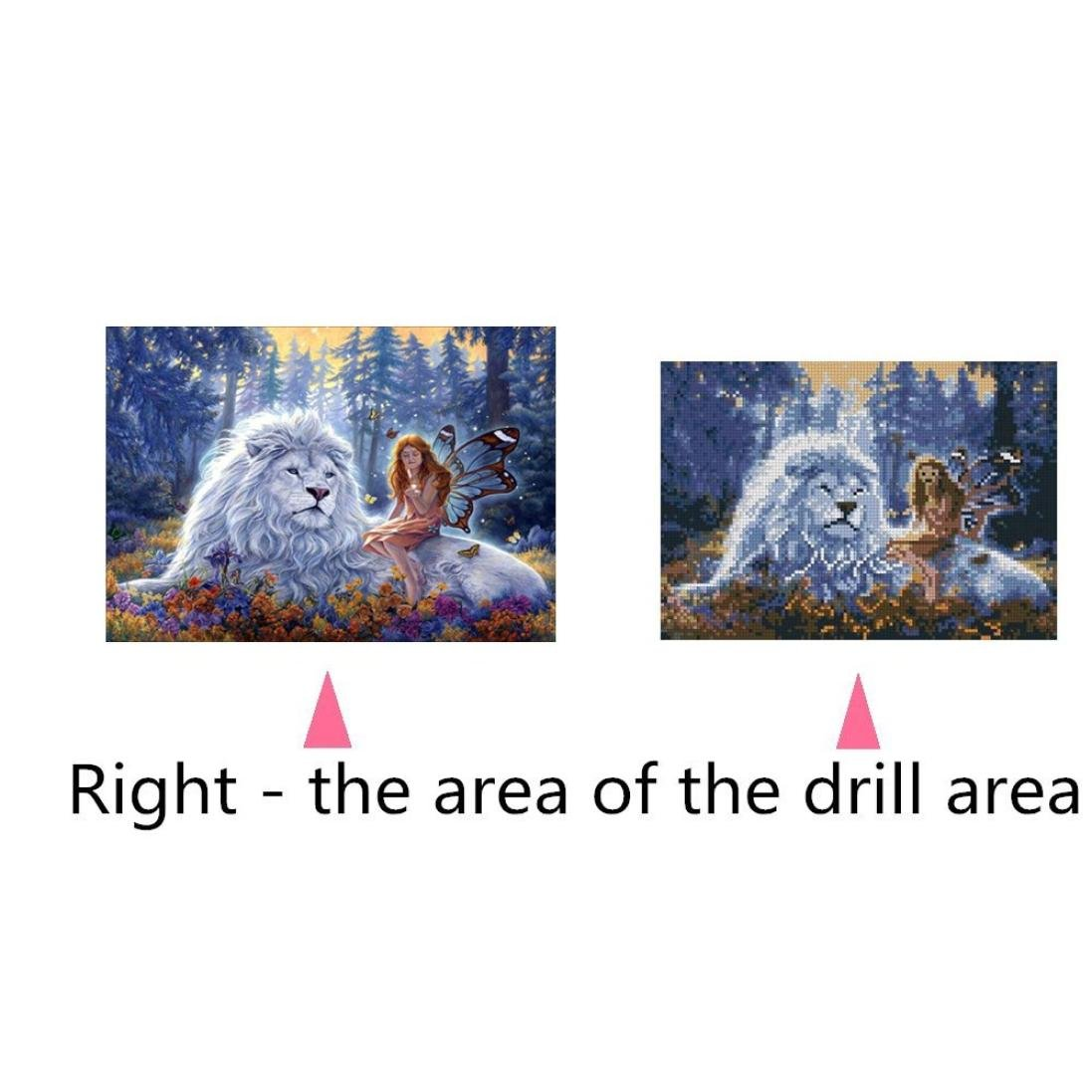 B:12X12inch // 30X30CM Botrong 5D Embroidery Paintings Rhinestone Pasted DIY Diamond Painting Cross Stitch