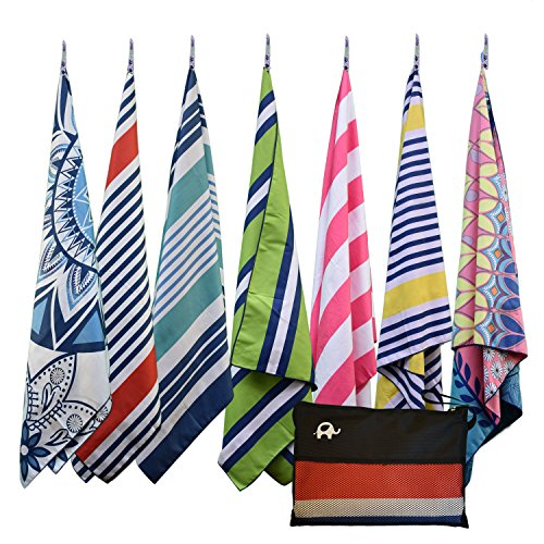 (Elite Trend Microfiber Beach Towel for Travel - Oversized XL 78 x 35 Inch Lightweight, Quick Dry, Sand Free, Extra Large Towels & Blanket - Perfect fo)