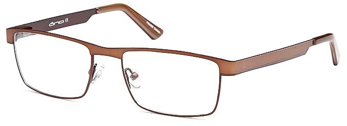 c38417ea47a DALIX Mens Stainless Steel Prescription Glasses Frames 52-17-135-33 (Brown