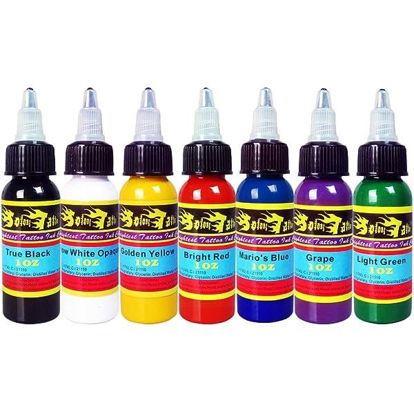 Solong Tattoo 7 Unidades Tinta de Tatuaje Pigmento Básicos Colores ...