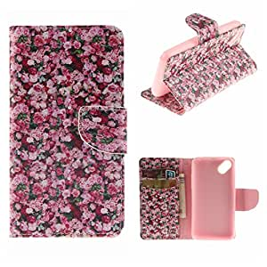 MOONCASE WIKO Sunset2 Funda, Printing Series Cartera Carcasa Cuero Tapa Case Cover Carcasa para WIKO Sunset2 TX01