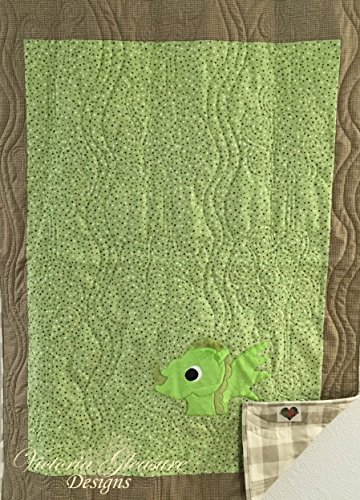 Small Green Dragon Applique Quilt