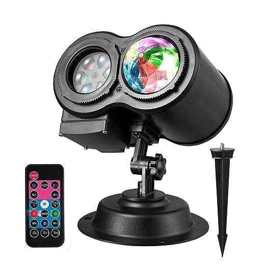 Lámpara De Proyección LED Interior Y Exterior Luces Proyector 12 ...