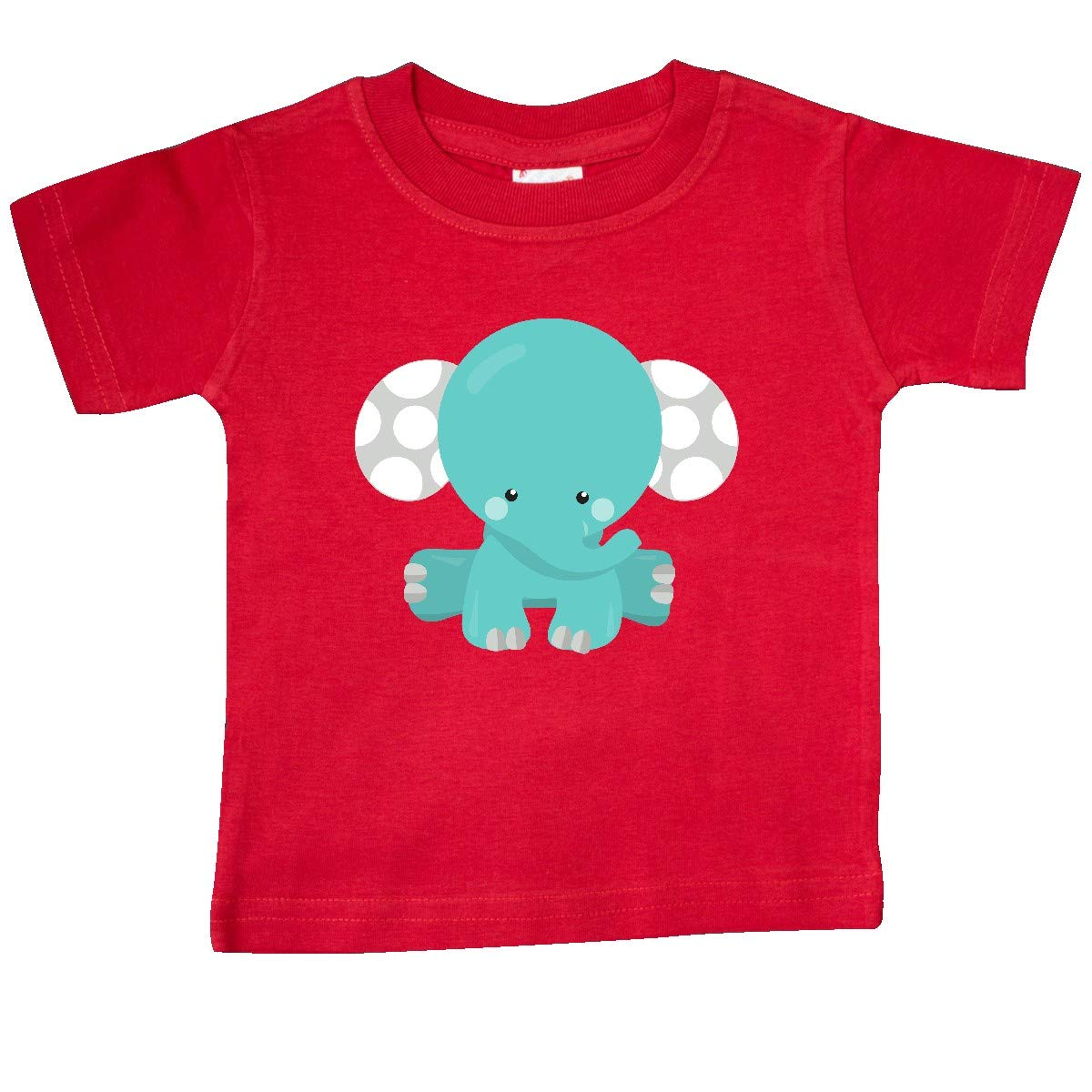 inktastic Blue Elephant with Dotted Ears Baby Elephant Baby T-Shirt