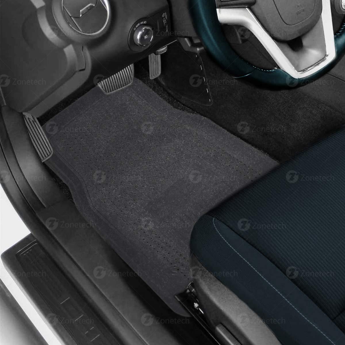 4-Piece Set Clear Heavy Duty Car Interior Floor Mats Comfort Wheels FM0004 Zone Tech All Weather Full Rubber Clear Car Interior Floor Mats