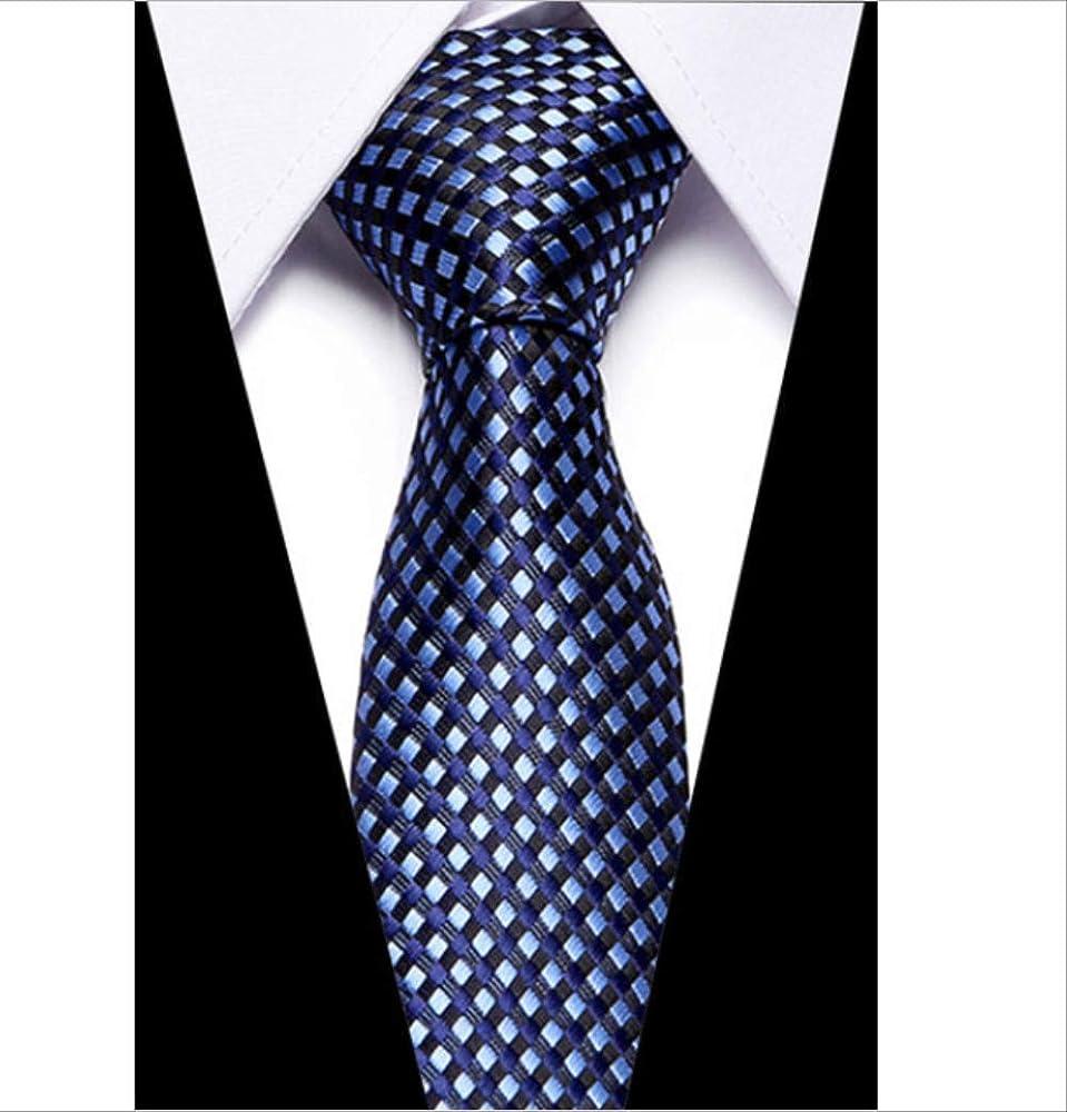 YiJiaMei Clásico de los hombres corbata de seda jacquard tejido a ...