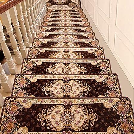 Chihen Escalera Rectangular Mat 3D Jacquard Escalera Almohadilla Adhesiva Antideslizante Paso Decoración De Interiores Decoración Step Mats (Color : Coffee(100x30x3cm), Size : 1pc): Amazon.es: Hogar