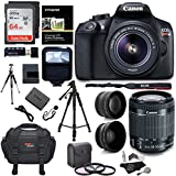 Canon EOS Rebel T6 Digital SLR Camera Kit + EF-S 18-55mm f/3.5-5.6 IS II Lens + Pro .58x & 2.2x Lenses + Sandisk 64GB Memory + 48 Tripod + Ritz Gear Case + Polaroid Accessory Bundle