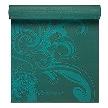 Gaiam 5mm Premium Printed Yoga Mat-Turquoise Surf
