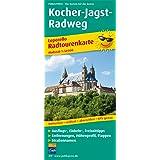 Kocher-Jagst-Radweg: Leporello Radtourenkarte mit Ausflugszielen, Einkehr- & Freizeittipps, wetterfest, reissfest, abwischbar, GPS-genau. 1:50000 (Leporello Radtourenkarte / LEP-RK)