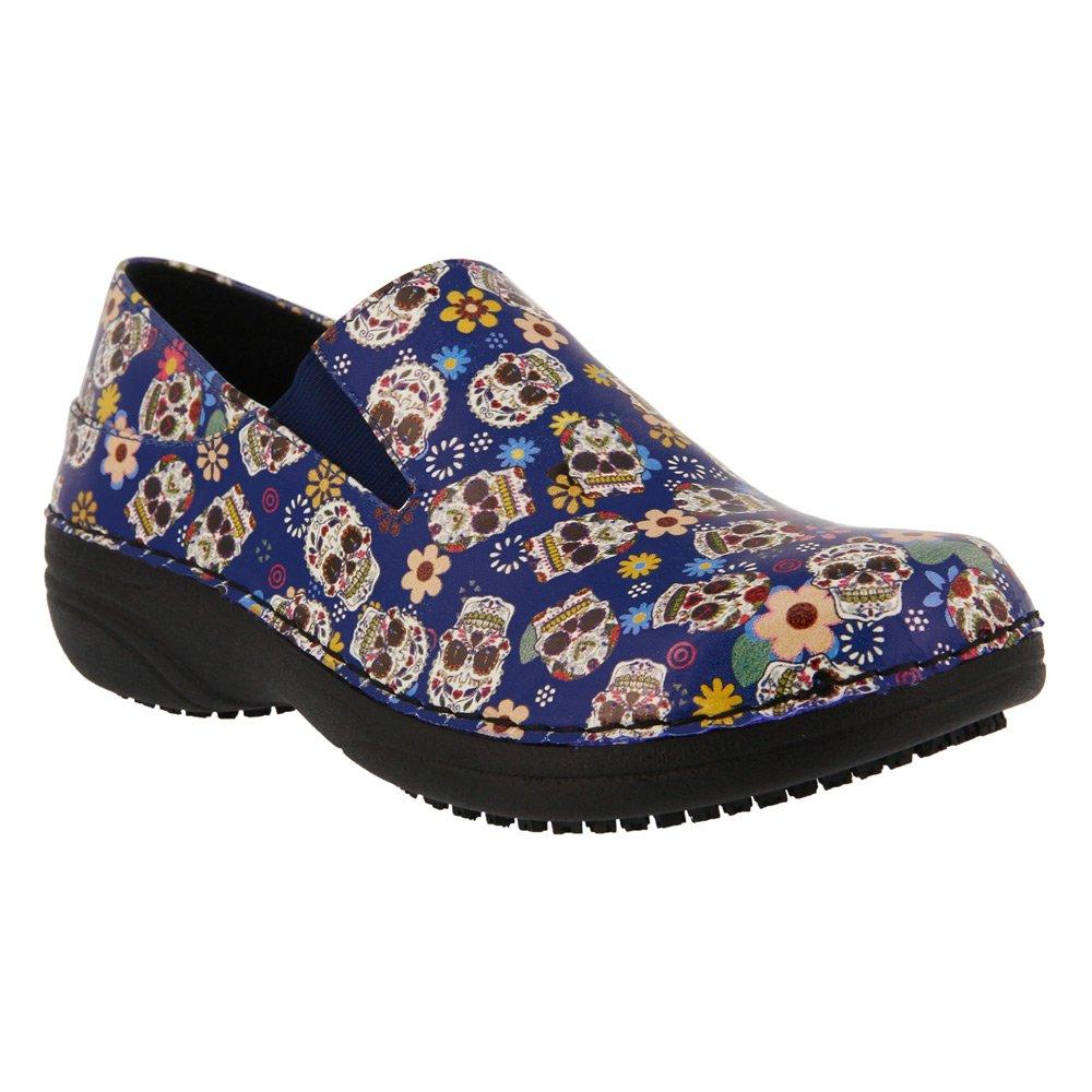 Spring Step Women's Ferrara Work Shoe B01NBFINLZ 05H|Blue Small Skulls