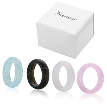 Syourself Silicone Wedding Ring Band for Men or WomenSafe Flexible