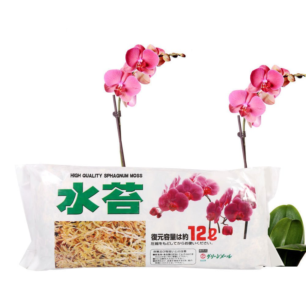FOReverweihuajz 12 L Orchid Soilless Moss Culture Fertilizer,Sphagnum,Garden Supply