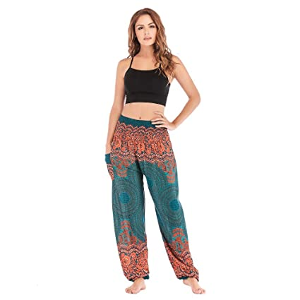 KKIMISPORT Pantalón de Yoga Mujer Impreso en Bohemia ...