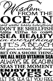 Ideogram Designs Vinyl Wall Decal Wisdom from the Ocean, 15 by 23 -Inch