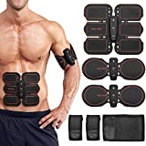 Abs Stimulator Muscle Toner Trainer Electric Abdominal Muscle Trainer Men Women Leg Arm Training Fix Straps Home Office Fitness Equipment