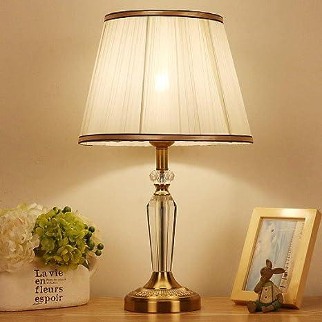 Lámpara de mesa de cristal de lujo Sala de estar Dormitorio ...